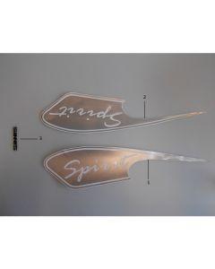 Sinnis Spirit 125 (F28A) Stickers Silver