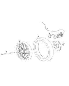 NIU UQI GT (F04) Front Wheel