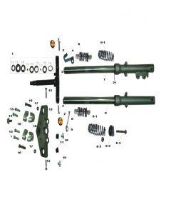Heist 125 (F04) Forks/Rear Suspension