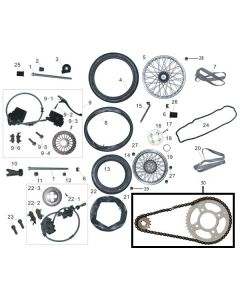 Heist 125 (F05) Wheels/Brakes