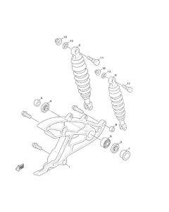 Sinnis Hero 125 (F5) Swingarm/Rear Shocks