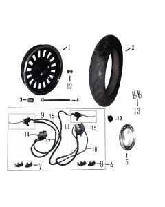 Sinnis Zen 125 (F06) Front Wheel/Brakes