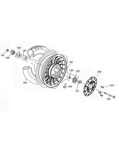 Sinnis Street 50 (Euro 04) (F07) Front Wheel