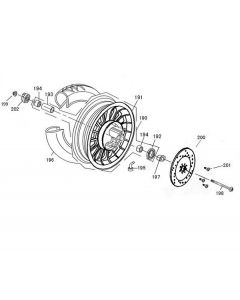 Sinnis Flair 50 (F07) Front Wheel