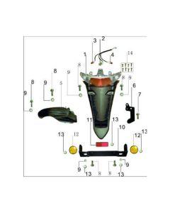 Sinnis Jet 2 (F07) Tail Light