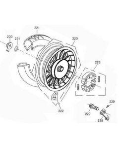 Sinnis Flair 50 (F08) Rear Wheel