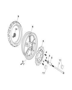 Sinnis Matrix 3I (F09) Front Wheel