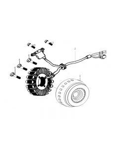 Z157FMJ-2 (Z10) Stator / Flywheel