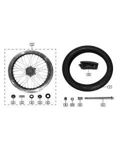 Sinnis Hoodlum 125 (Z10) Front Wheel
