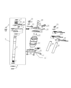 TC380R (Z13) Gear Selector Shaft