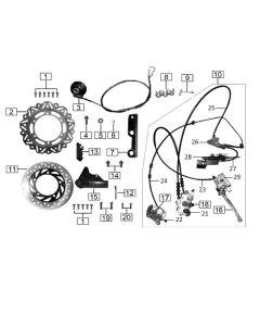 Sinnis Hoodlum 125 (Z15A) Brakes Disc/Disc
