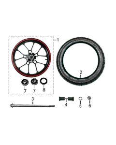 Sinnis RSX 125 (Z19) Front Wheel