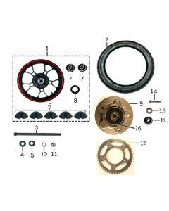 Sinnis RSX 125 (Z20) Rear Wheel