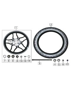Sinnis Terrain 125 (Z21) Rear Wheel