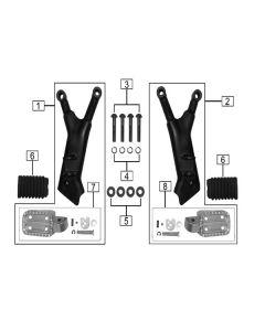 Terrain 380 (Z21) Rear Footpegs