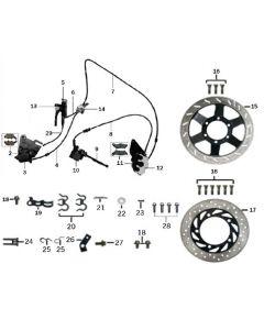 Sinnis RSX 125 (Z22) Brakes