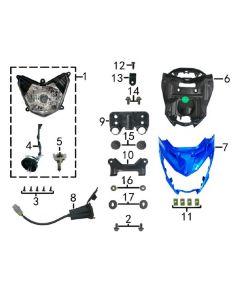 Sinnis RSX 125 (Z03) Headlight