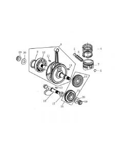 Z157FMJ-2 (Z07) Crankshaft / Piston